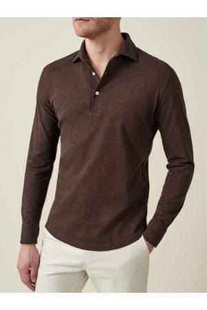 Luca Faloni Polo Shirt Brera scuro in cotone piquet