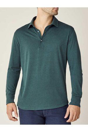 Luca Faloni Polo Shirt Amalfi Smeraldo in seta-cotone