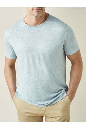 Luca Faloni T-shirt chiaro in jersey di lino