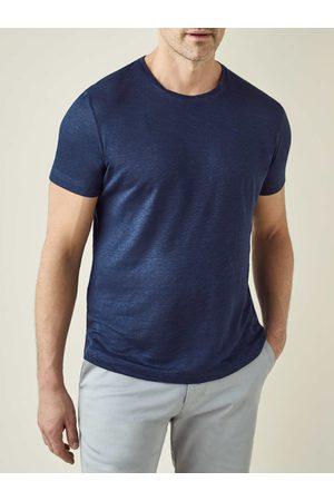 Luca Faloni T-shirt navy in jersey di lino