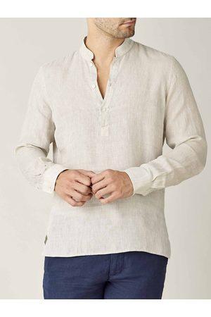 Luca Faloni Camicia Forte sabbia in lino