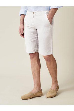 Luca Faloni Shorts Panarea bianco in lino-cotone