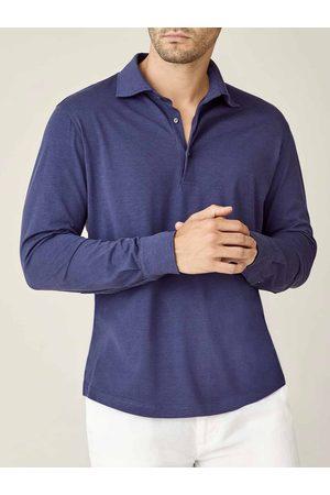 Luca Faloni Polo Shirt Amalfi oceano in seta-cotone
