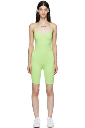 LIVE THE PROCESS Green Corset Playsuit