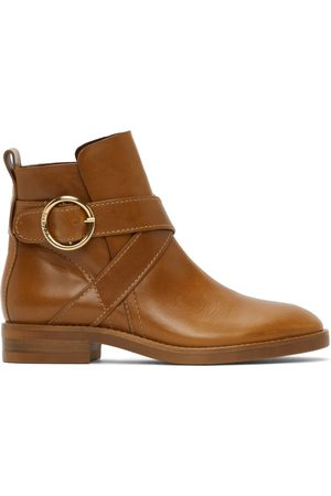 See by Chloé Tan Lyna Ankle Boots