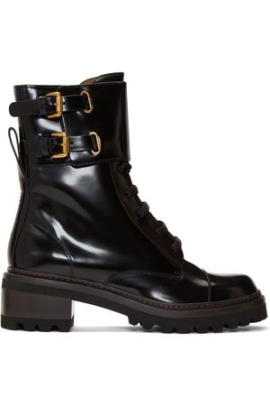 See by Chloé Black Mallory Biker Boots