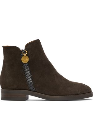 See by Chloé Brown Suede Louise Boots