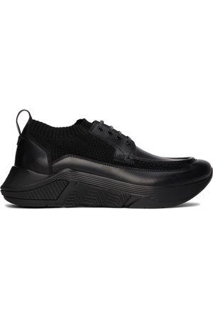 Armani Black Paneled Chunky Sneakers