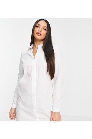 ASOS ASOS DESIGN Tall - Vestito camicia corto in cotone