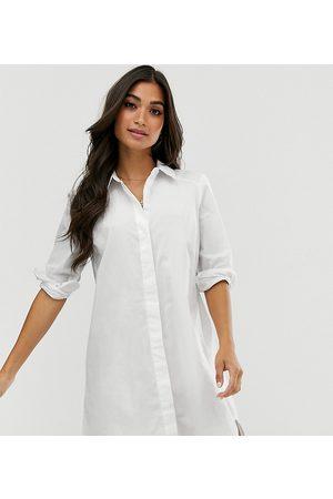 ASOS ASOS DESIGN Petite - Vestito camicia corto in cotone