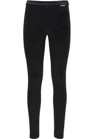 VERSACE Donna Leggings & Treggings - Leggings In Lycra Con Logo
