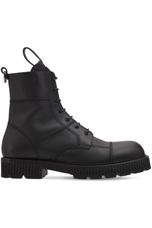 "Dolce & Gabbana Uomo Stivali - Stivali Combat ""bernini"" In Ecopelle"
