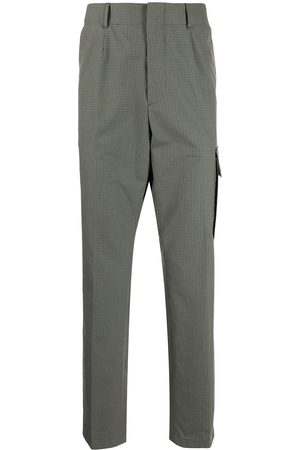 Paul Smith Uomo Chinos - Grid-pattern pressed-crease trousers
