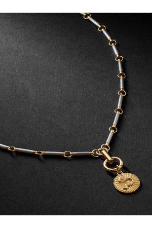 Foundrae Wholeness 18-Karat Gold, Onyx and Diamond Necklace