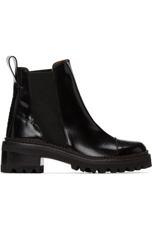 See by Chloé Black Leather Mallory Ankle Boots