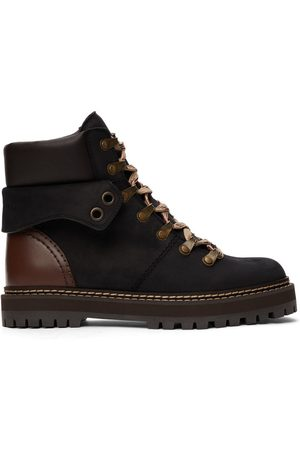 See by Chloé Black Nubuck Eileen Boots