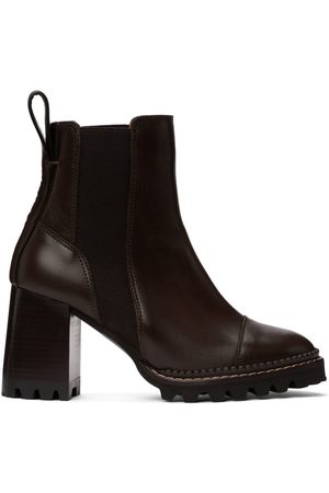 See by Chloé Brown Mallory Heeled Boots