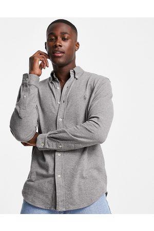 Polo Ralph Lauren Uomo Camicie - Camicia con colletto button-down slim e logo in piqué mélange
