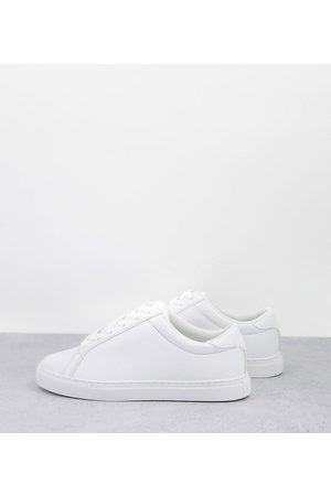 ASOS Donna Sneakers - Wide Fit - Drama - Sneakers bianche a pianta larga