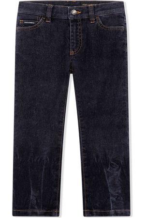 Dolce & Gabbana Jeans dritti con effetto schiarito