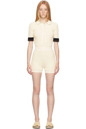 Fendi Off-White Knit Jumpsuit