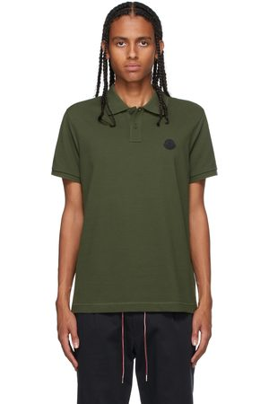 Moncler Green Knit Polo