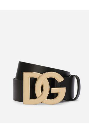 Dolce & Gabbana Collection - Cintura in cuoio lux con fibbia logo DG incrociato male 80