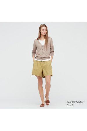 UNIQLO Shorts Lino Misto Cotone Donna