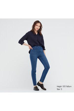 UNIQLO Pantaloni Leggings Denim Ultra Elasticizzati Vita Alta Donna
