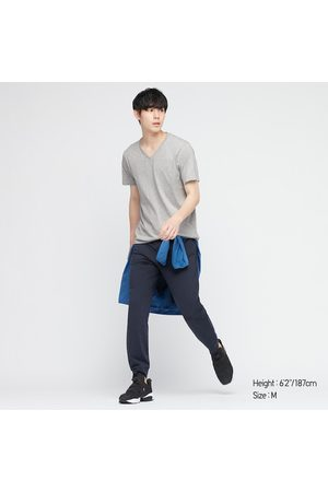 UNIQLO T-Shirt 100% Cotone Supima Collo A V Maniche Corte Uomo