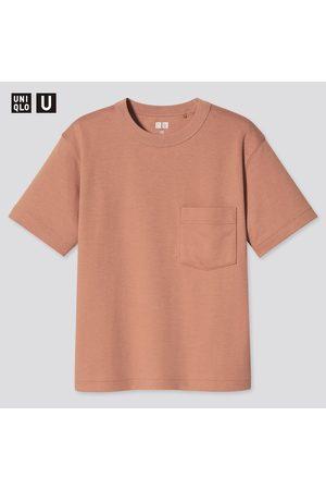 UNIQLO Bambino T-shirt - T-Shirt U AIRism Cotone Girocollo Bambino