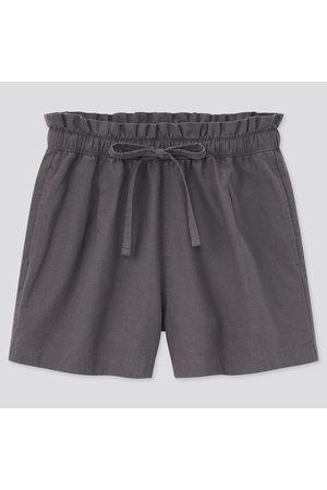 UNIQLO Shorts Cotone Misto Lino Relax Donna