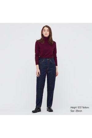 UNIQLO Jeans Alla Caviglia Curvati Vita Alta Donna