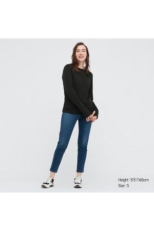 UNIQLO T-Shirt DRY-EX Girocollo Maniche Lunghe Donna