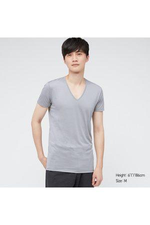 UNIQLO T-Shirt AIRism Collo A V Uomo