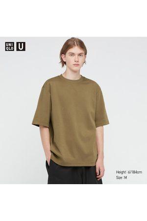UNIQLO T-Shirt U AIRism Cotone Oversized Girocollo Mezze Maniche