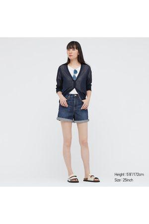 UNIQLO Jeans Shorts Vita Alta Donna