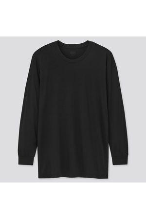 UNIQLO T-Shirt Termica HEATTECH Gircollo Maniche Lunghe Uomo