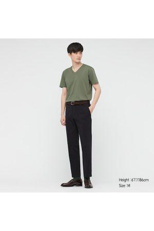 UNIQLO T-Shirt 100% Cotone Supima Collo A V Uomo