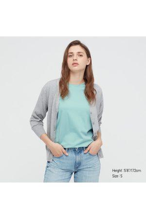 UNIQLO T-Shirt 100% Cotone Supima Girocollo Donna