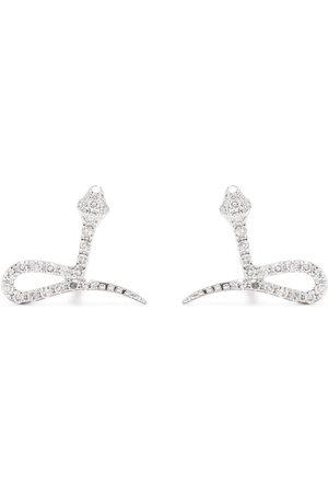 DJULA Uomo Orecchini - Orecchini Snake in oro bianco 18kt con diamanti