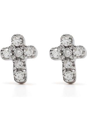 DJULA Uomo Orecchini - Orecchini Cross in oro 18kt con diamanti
