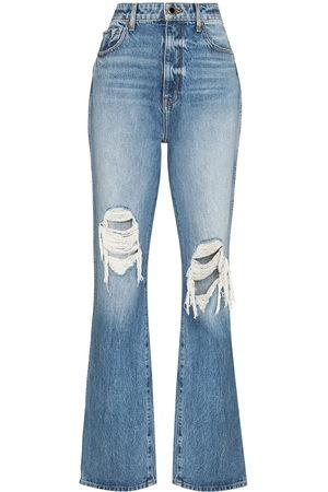 Khaite Donna Jeans a vita alta - Jeans a vita alta Danielle con effetto vissuto