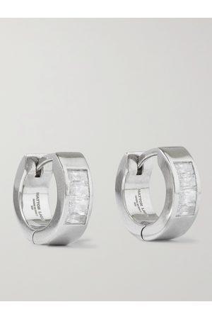 Hatton Labs Uomo Orecchini - Sterling Crystal Hoop Earrings