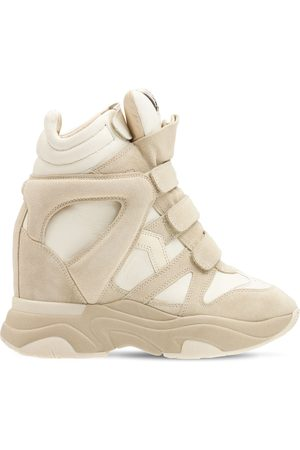 """ISABEL MARANT Sneakers """"balskee"""" In Camoscio E Pelle 60mm"""