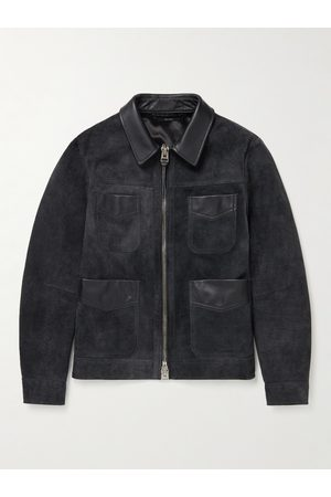 Tom Ford Uomo Giacche di pelle - Slim-Fit Leather-Trimmed Suede Field Jacket