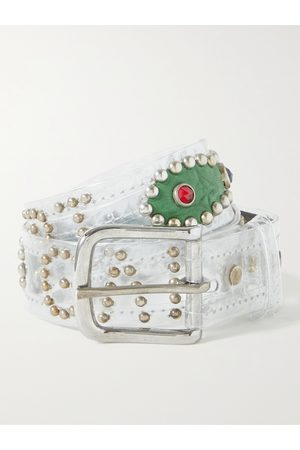 Gallery Dept. Uomo Cinture - Simon Embellished PVC and Leather Belt