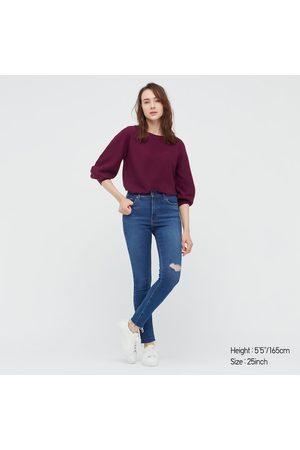 UNIQLO Jeans Ultra Elasticizzati Strappati Skinny Vita Alta Donna
