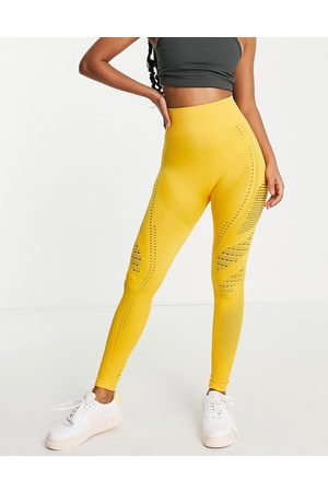 Love & Other Things Leggings sportivi gialli senza cuciture