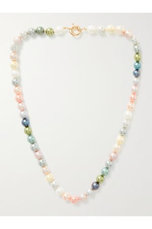 POLITE WORLDWIDE® Uomo Collane - 14-Karat Gold Pearl Necklace